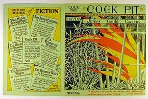 Dust jacket design by F. Mechau for 'Cock Pit', published by William Morrow, New York, 1928. l Victoria and Albert Museum
