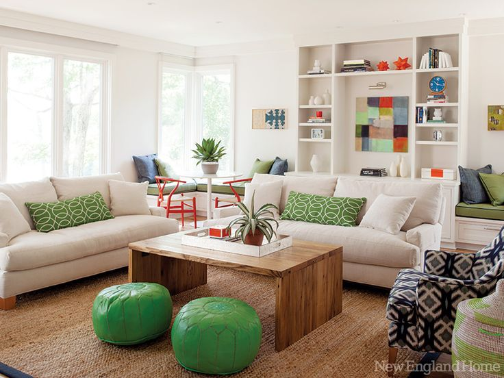 This Living Room Is Restful But Not Sleepy Thanks To A Comfortable Mix Of