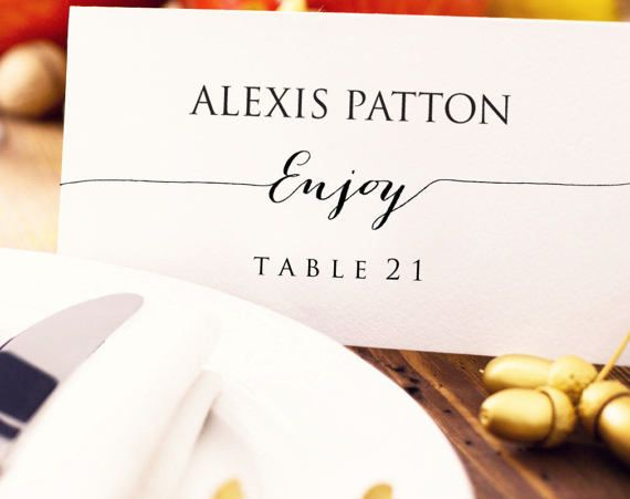 49 Best Place Card Templates Images On Pinterest | Card Stock