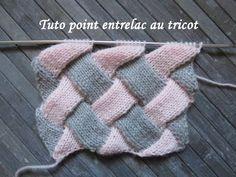 TUTO POINT ENTRELAC AU TRICOT Entrelac stitch knitting PUNTO ENTRELAZADO DOS AGUJAS - YouTube