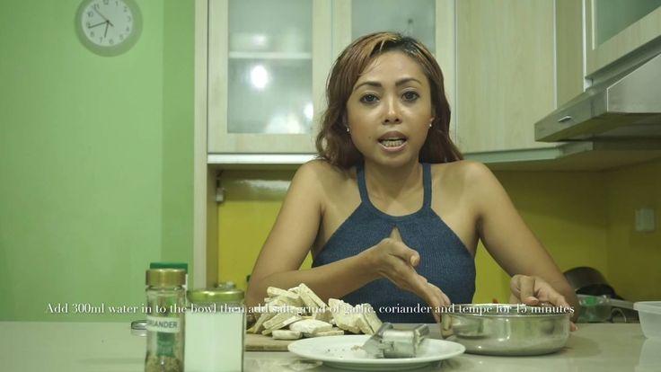 Bumbu tempe goreng / how to make amazing flavor fried tempe for vegan / ...