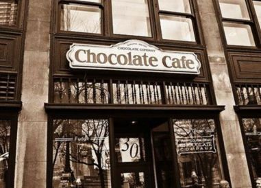 WHY DID I NOT KNOW THIS WAS A THING? WHY DID YOU LET ME GO TO INDIANAPOLIS WITHOUT KNOWING THIS WAS A THING?? Now I need an excuse to go bakc to Indianapolis. Chocolate Cafe - South Bend Chocolate Company, 30 Monument Circle, Indianapolis, IN 46204.