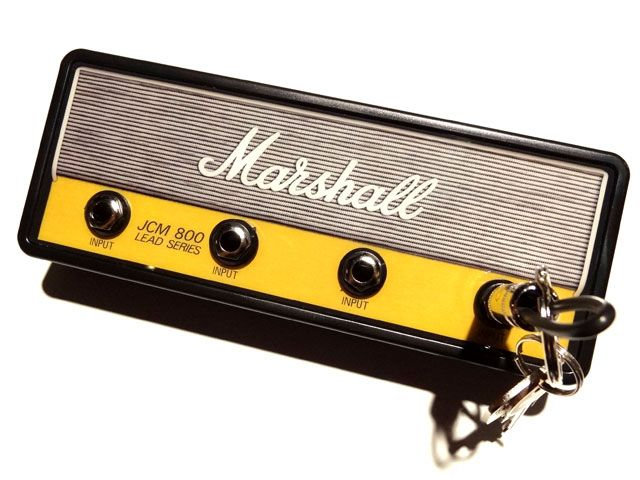 """何気ないライフスタイルに音楽を。【Pluginz】 Pluginz(プラグインツ) Official MARSHALL Jack Rack- """"JCM800 HANDWIRED""""with 4 keychains"""