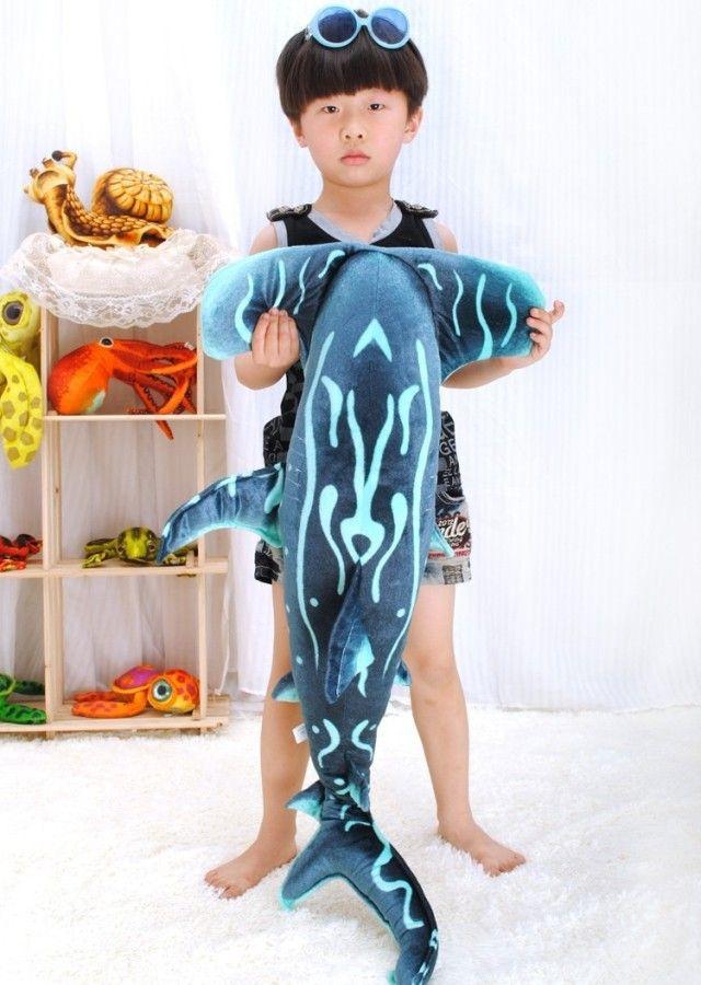 Плюшевые моделирования акула-Молот игрушка милый море акула-Молот игрушка в подарок около 100 х 53 см