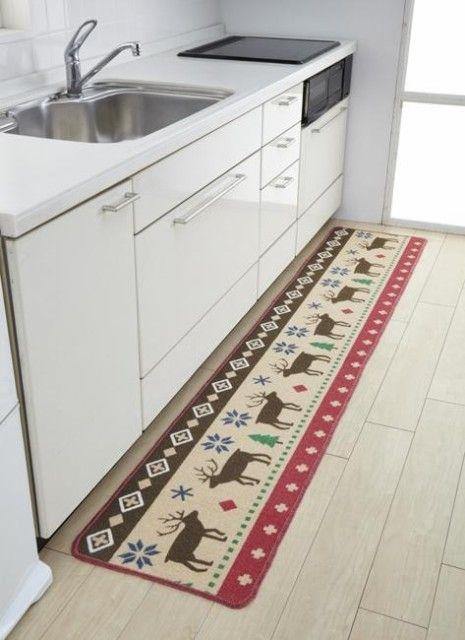 キッチン マット 北欧の通販|DeNAショッピング 北欧柄 ロングキッチンマット ノルディック 45×240cm JE457