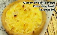 Quiche de queijo magro - Receita dukan #receitas #receitasdukan #faseataque #dieta #dukan