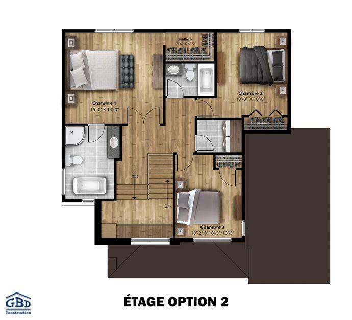 Plan du modèle | Construction maison neuve, Maisons neuves, Maison