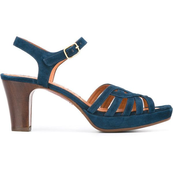Chie Mihara Inga Sandals (17,335 INR) ❤ liked on Polyvore featuring shoes, sandals, real leather shoes, leather footwear, leather shoes, indigo shoes and chie mihara