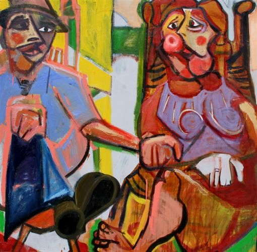 A Seated Couple by Scott Dykema