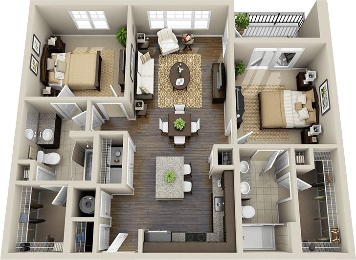 86 mejores ideas sobre planos en pinterest dormitorio de for 2 story 2 bedroom apartment plans