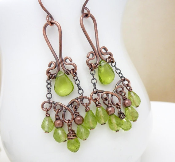 earrings - Wire wrapped