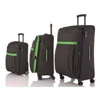 Zestaw 3 walizek Travelite exclusive, antracyt + zielony