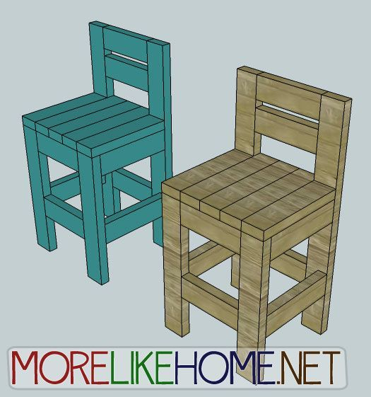 Build a Chunky Bar Stool from www.morelikehome...