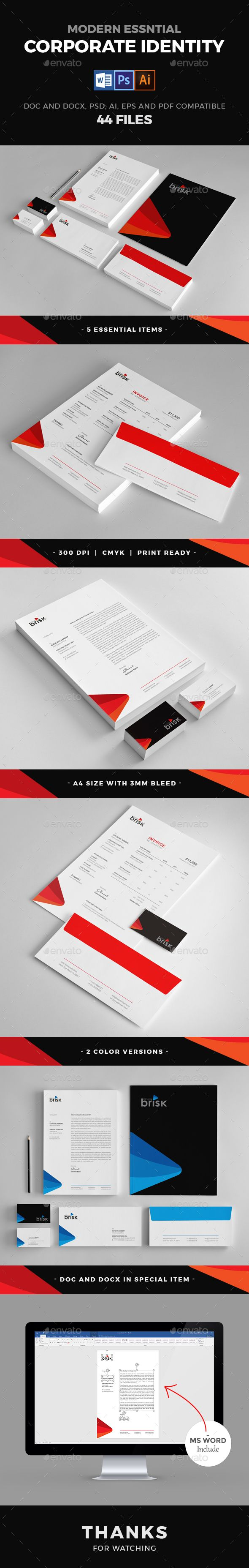#Corporate #Identity - Stationery Print Templates Download here:  https://graphicriver.net/item/corporate-identity/20258807?ref=alena994