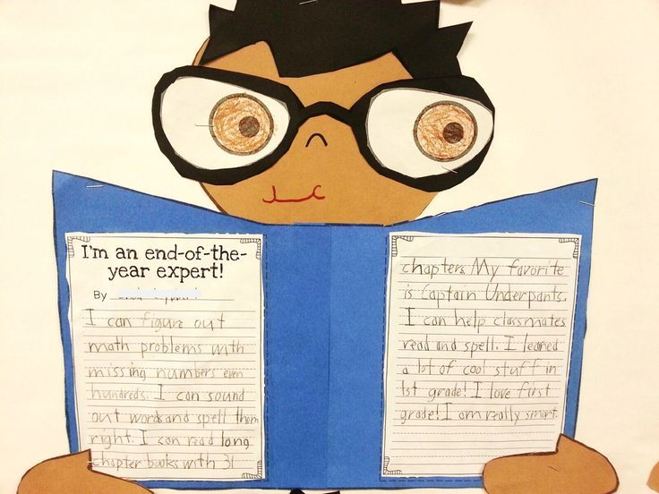 I'm an end-of-the-year expert!! Students write about what they have learned throughout the year and share what they are proud of! Fun writing activity to end the year :)