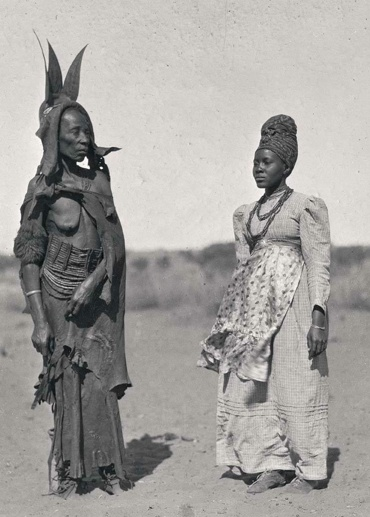 'Ancient and Modern Dress' Worn by Herero Women.1936 Alfred Duggan-Cronin, Courtesy Duggan-Cronin Collection. McGreggor Museum Kimberley South Africa