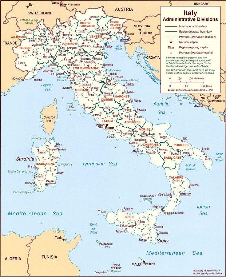 Exceptionnel Les 25 meilleures idées de la catégorie Carte d' italie sur Pinterest PW01