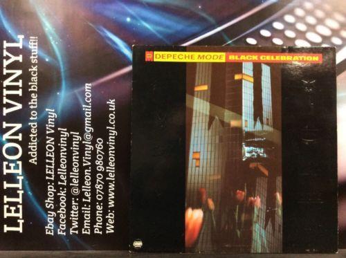 Depeche Mode Black Celebration LP Album Vinyl Record 70436 A21/B21 Pop 80's Music:Records:Albums/ LPs:Pop:1980s