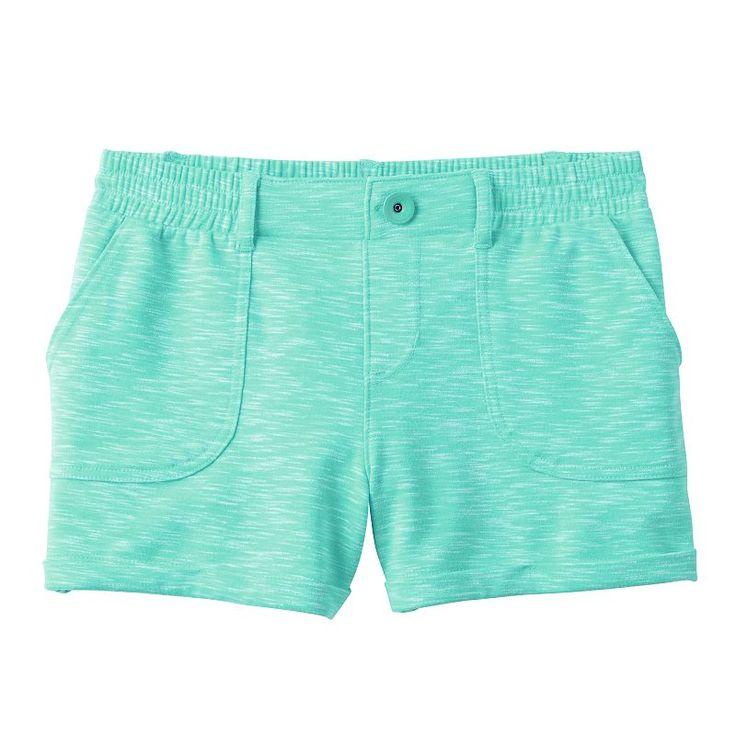 Girls 7-16 SO® French Terry Slubbed Soft Shorts, Girl's, Size: 16, Turquoise/Blue (Turq/Aqua)