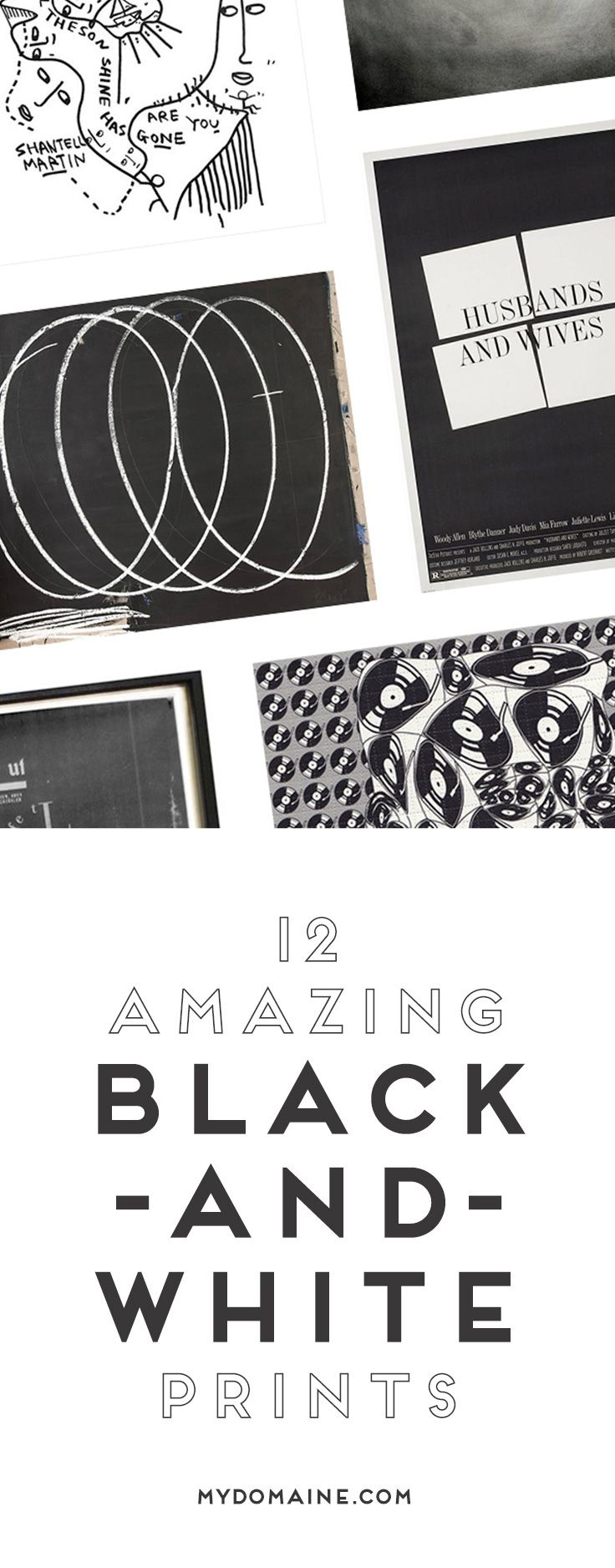 12 Amazing Tattoo Designs For Shoulder Blade: 12 Amazing Black-and-White Prints For Any Space