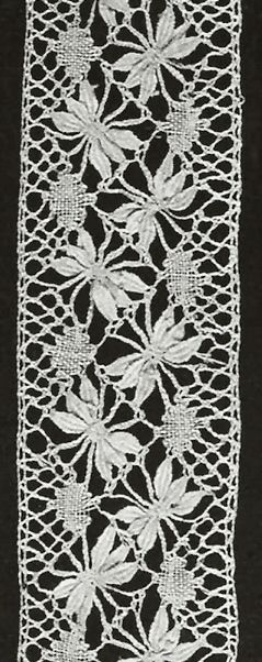 Free bookmark pattern. Spider leaf.