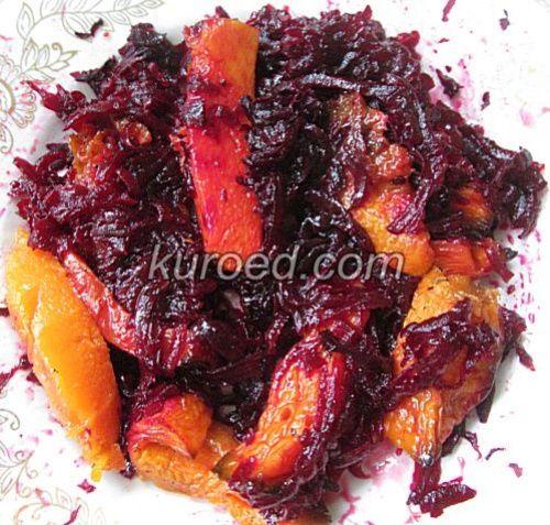 салат из свеклы и печеной тыквы