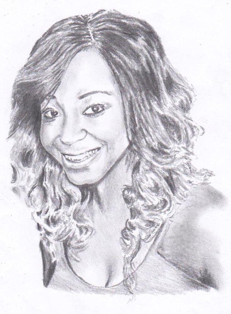 """Portrait  """"Khutso"""" Pencil on paper A4"""