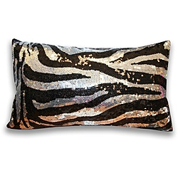 @Overstock - This dazzling decorative throw pillow showcases an allover sequined design and faux silk backing.  This pillow showcases a zebra pattern.  http://www.overstock.com/Home-Garden/Sequin-Zebra-Decorative-Pillow/6206351/product.html?CID=214117 $29.49