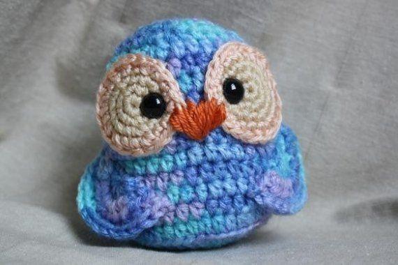 For sale on Etsy; crochet owl  ~~