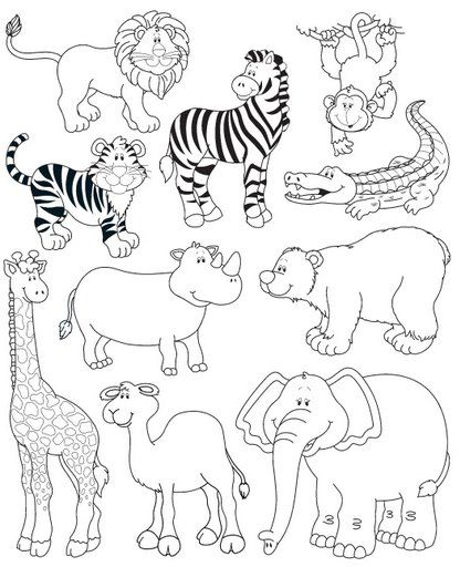 Animales de la selva para colorear | Speech Therapy | Pinterest