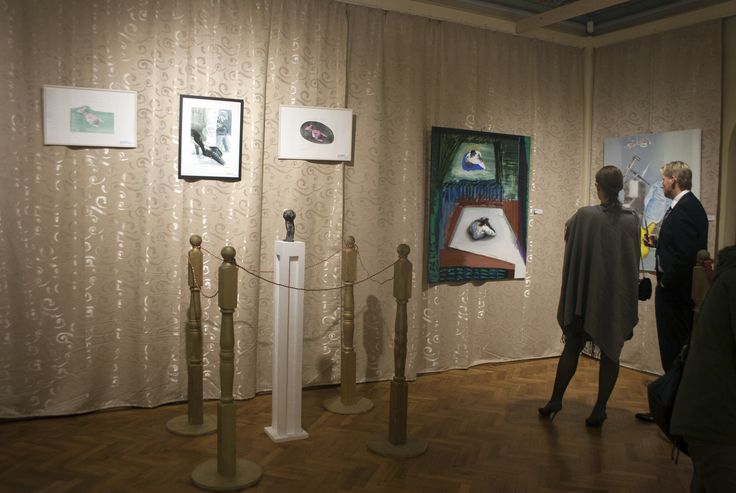 """the artworks of Maia Stefana Oprea inside the Cantacuzino Castle, """"Colours of Life"""" exhibition"""