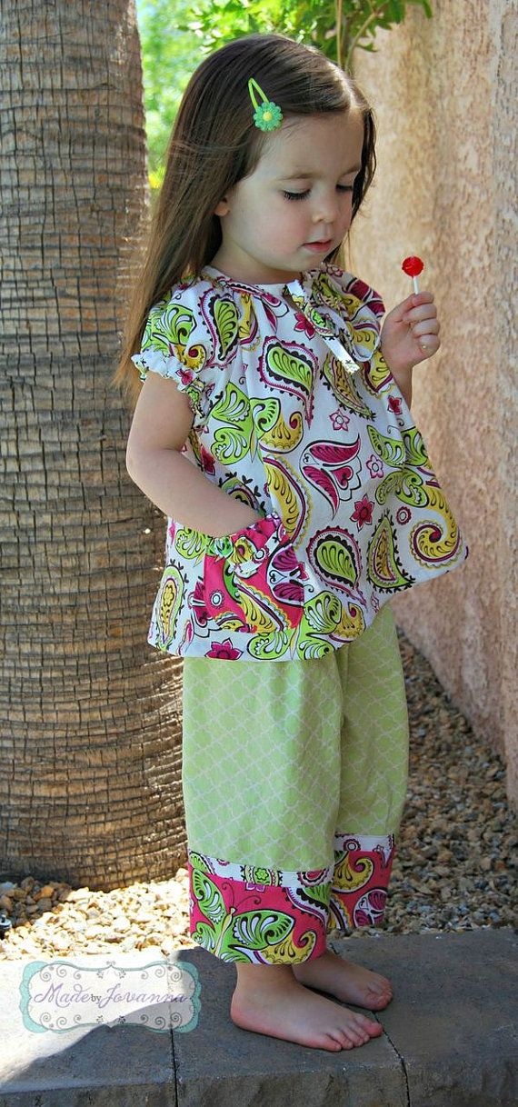 fairytale frocks and lollipops :: lilac lane patterns, Melissa strammel, spring break tunic and capris, girl, baby, infant, toddler, teen, tween, girls top pattern, girls tunic pattern, girls capri pattern, girls pants pattern, children's sewing pattern,