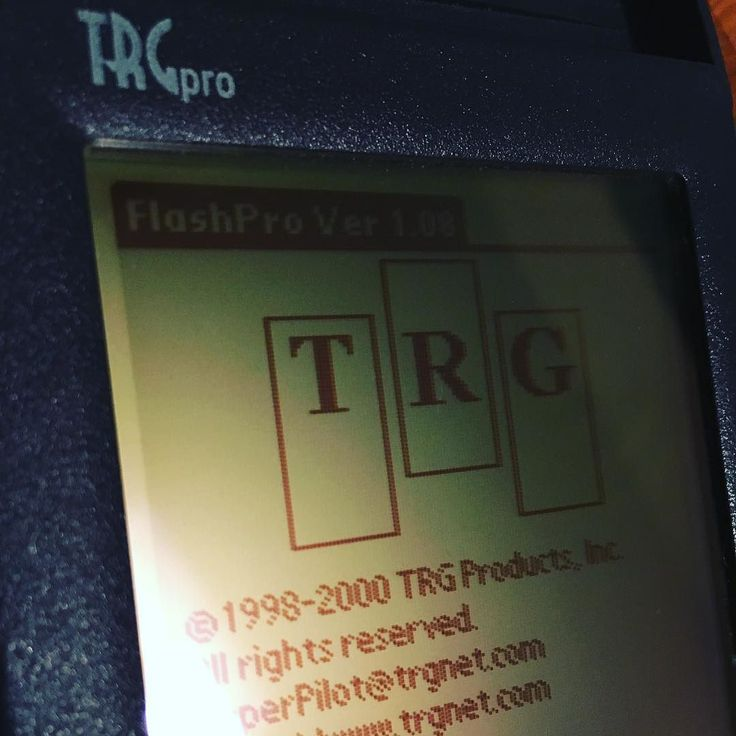 The lovely #trgpro logo on this #pda