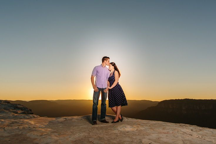 Blue Mountains Engagement - sunset on a dramatic clifftop. Loved this shoot :)