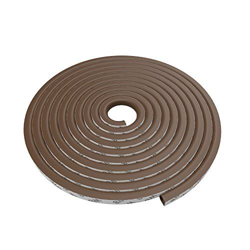"Rubber Weather Stripping for Doors and Windows, 19.6 Feet D Shaped Flexible Ageing-resistant Soundproof 3M Gum Adhesive Weatherstrip Sealing Strip Tape,Brown  Prevents dust,noise,air leakage,bugs,abrasion and vibration  Made of high quality silicone rubber,service life longer than typical foam tapes;It can withstand temperature down to -60F,will not harden  Easy to install,strong 3M self-adhesive, no tools required  D shaped with 4 hole design to reduce noise effectively; Size:3/8"" x 1..."