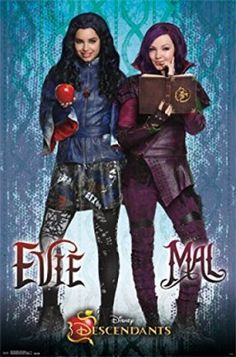 Disney Descendants birthday party decorations idea - Use posters to decorate walls.