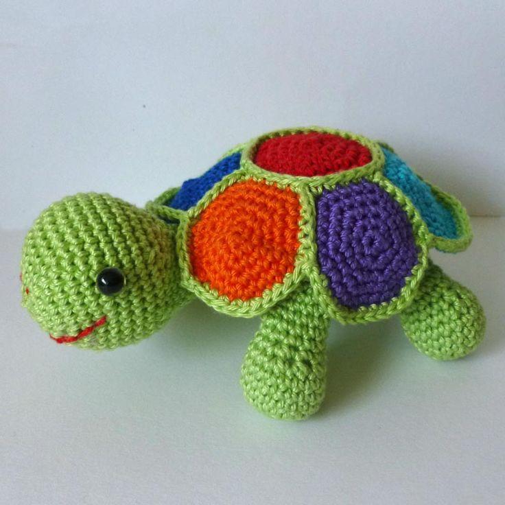 Haakpatroon amigurumi schildpad. Picture only No pattern