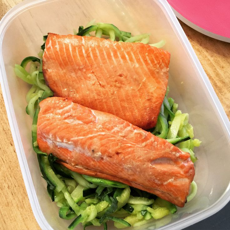 Teriyaki Salmon with courgette noodles following The Body Coach 90 Day SSS plan.