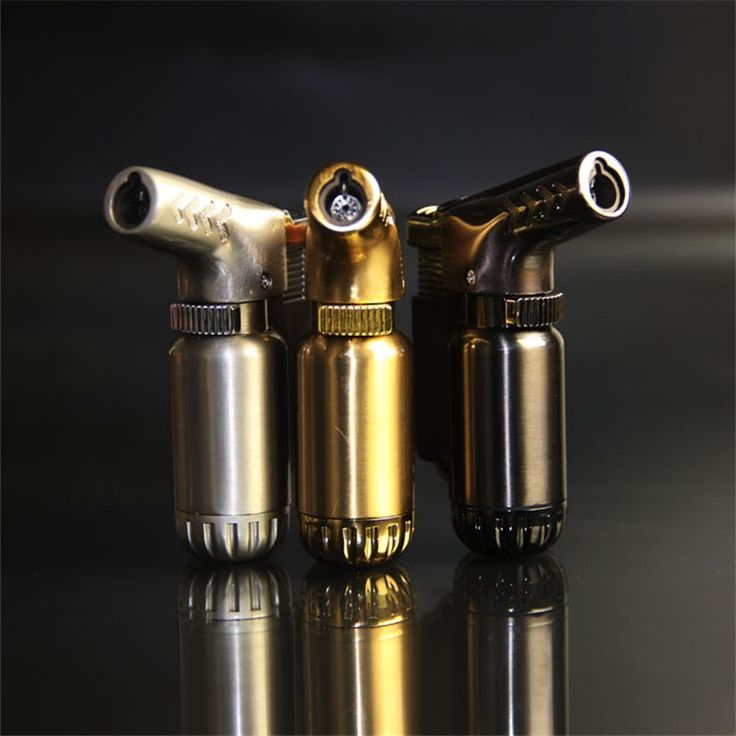 Hot Compact Butaan Jet Aansteker Aansteker Benzine Fire Winddicht Spuitpistool Metalen Aansteker Sleutelhangers GEEN GAS Mini Barbecue tool