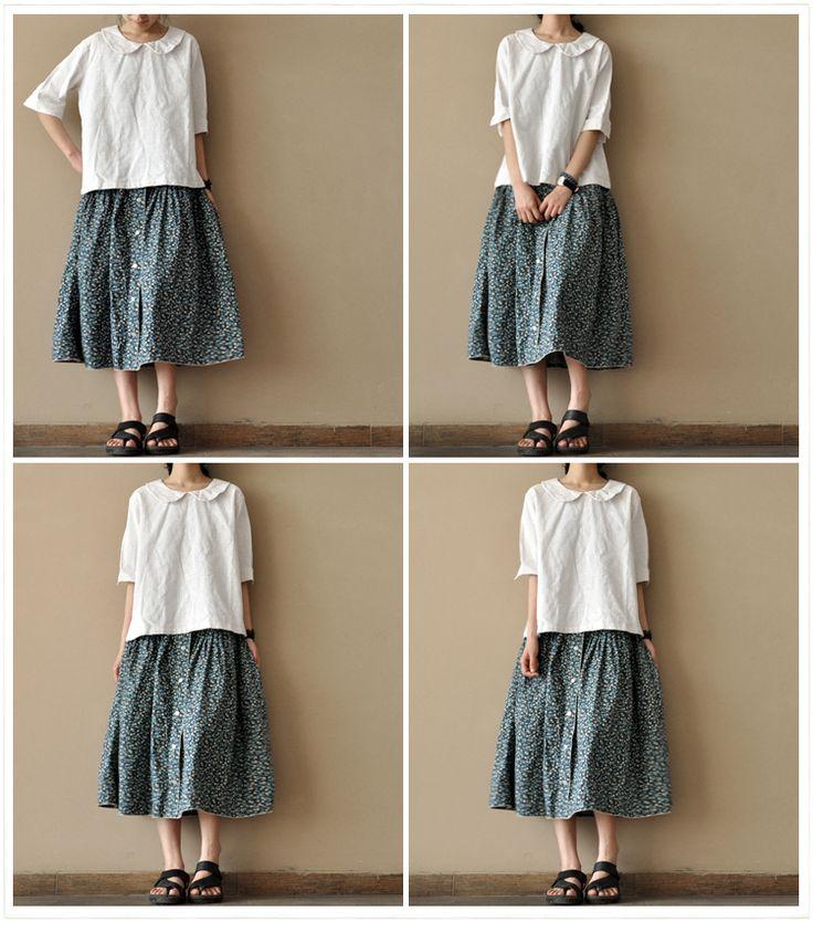 Little Flower skirt women Clothes summer skirt