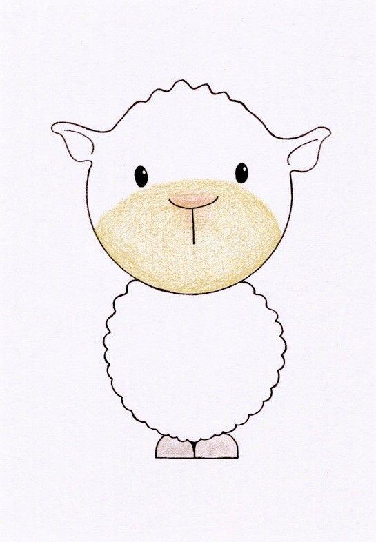 Nursery Room Wall Art - Lamb, 5x7 Matted. $9.00, via Etsy.