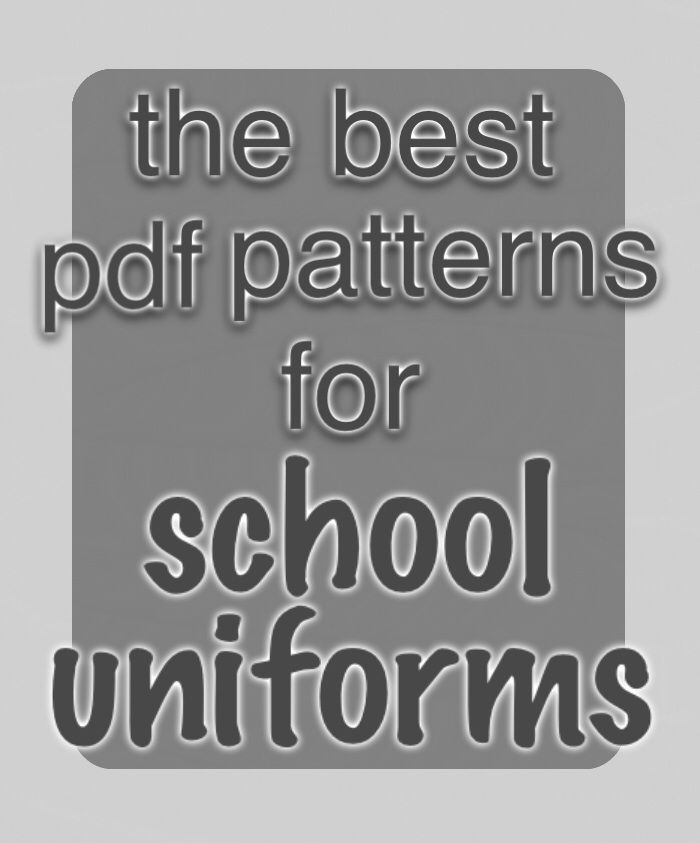 The best school uniform sewing patterns! Tops, bottoms, accessories and more to sew for your child all school year.