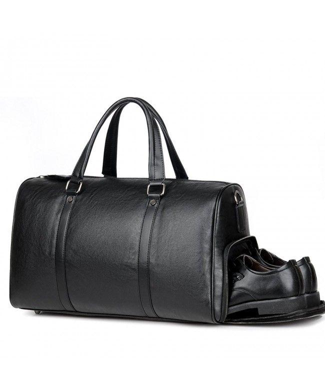 Men/'s Large Roll Handbag Travel Duffle Gym Leather Luggage Bag Tote Shoulder Bag