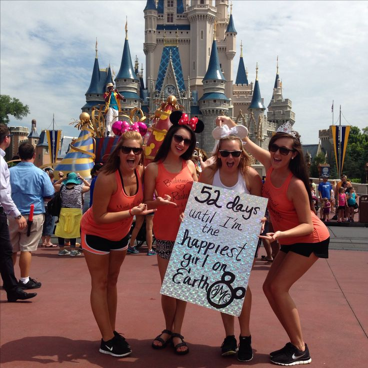 Bachelorette party in Disney World. 52 days until I'm the happiest girl on Earth.