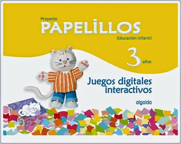 """""""Papelillos. Educación Infantil de 3 años"""" contiene buena cantidad de juegos educativos interactivos, en diversas áreas, complementarios al material didáctico de Editorial Algaida para este nivel. Se trata de actividades atractivas visualmente y bien construidas didácticamente."""