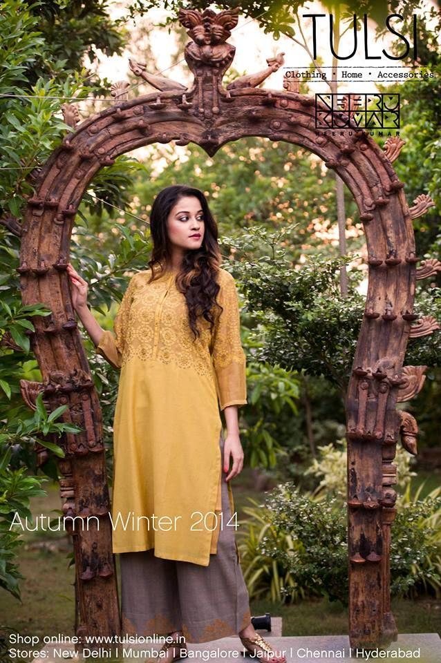 #autumnwinter #kurta #chanderi #womenswear #fashion #onlineshopping #tulsionline