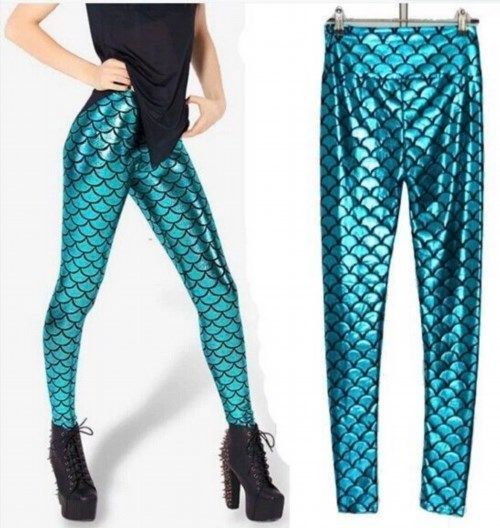 14.25$  Watch here - http://vifbr.justgood.pw/vig/item.php?t=g5k7qwt29679 - Kawaii Clothing Cute Ropa Leggings Mermaid Sirena Medias Harajuku Blue Dragon 14.25$