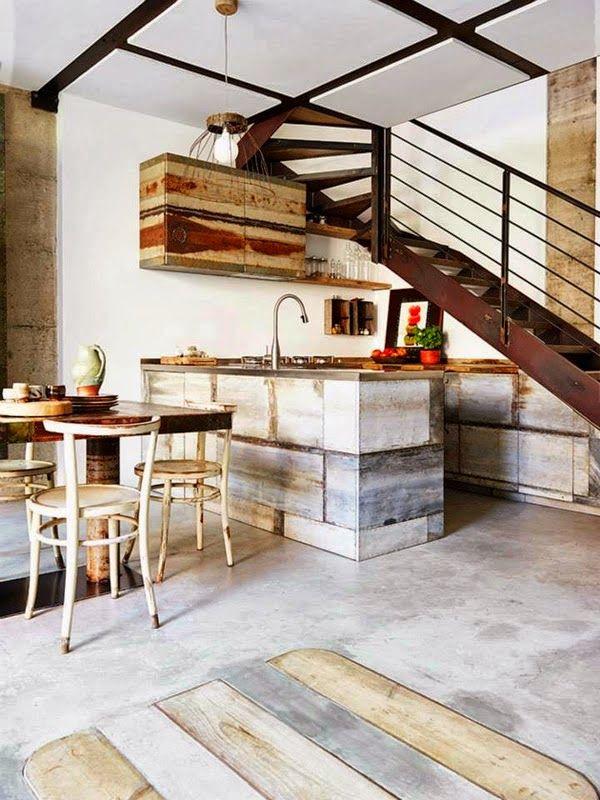 Ma maison au naturel: Une belle cuisine italienne avec des matériaux recyclés