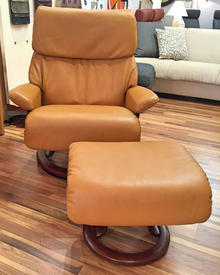 Spirit Recliner In Cori Tan With Walnut Base Available At