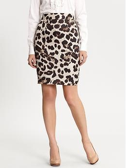 A fitted pencil skirt (in a solid or a print).